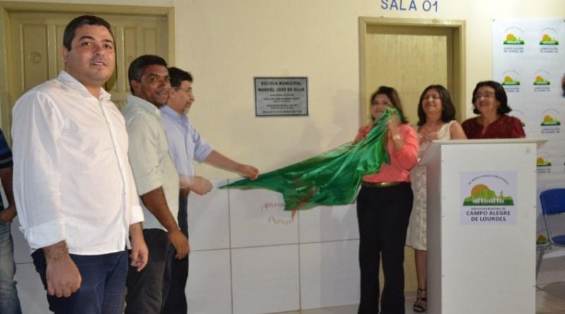 Foto de Prefeitura de Campo Alegre de Lourdes inaugura Escola Municipal na zona Rural