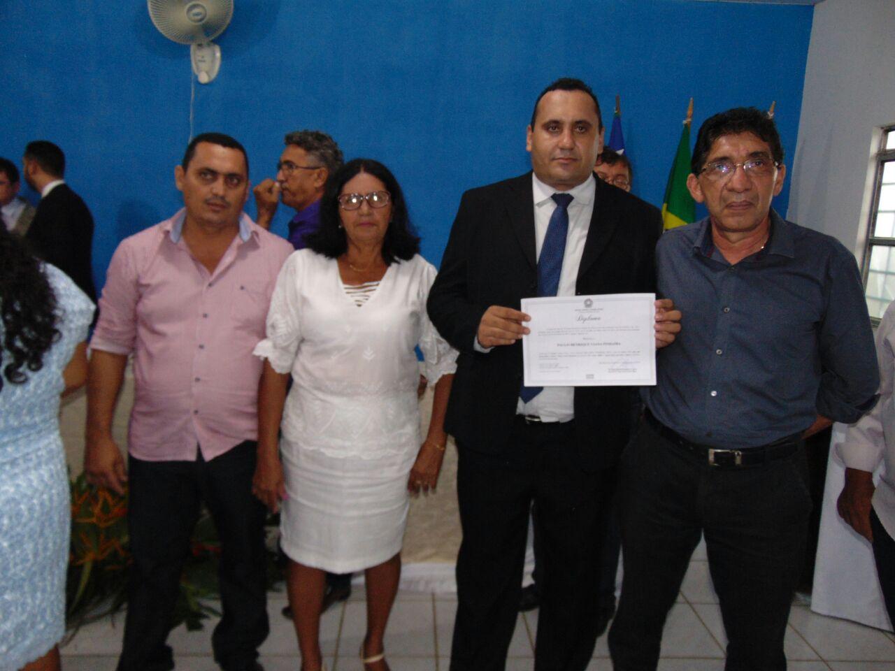 Foto de Paulão é diplomado como novo prefeito de Bonfim do Piauí