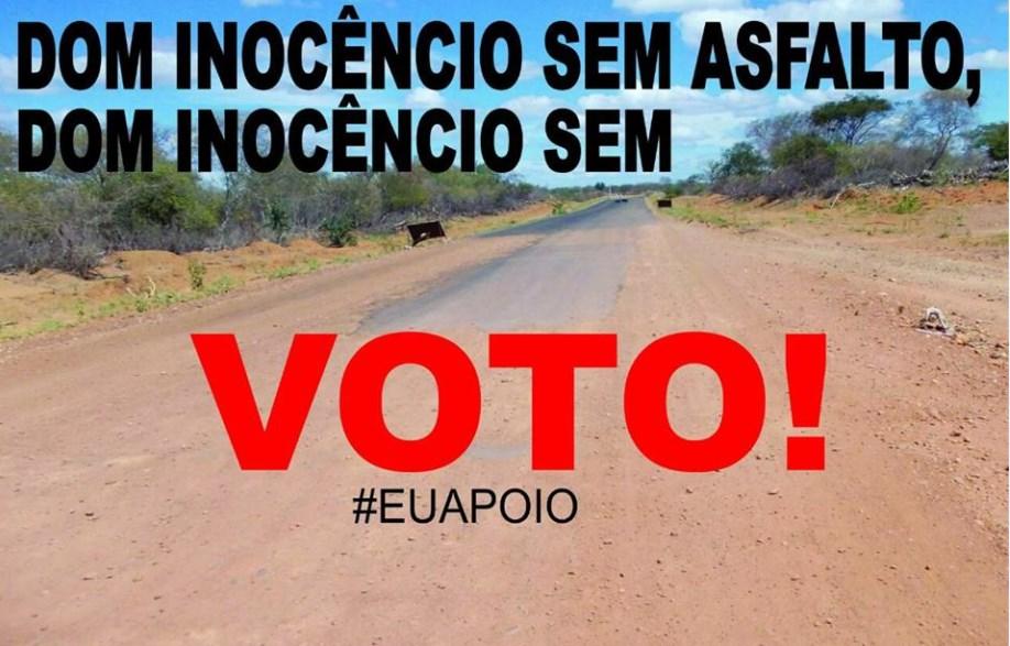 Foto de Grupo lança campanha para cobrar asfalto em estrada de Dom Inocêncio